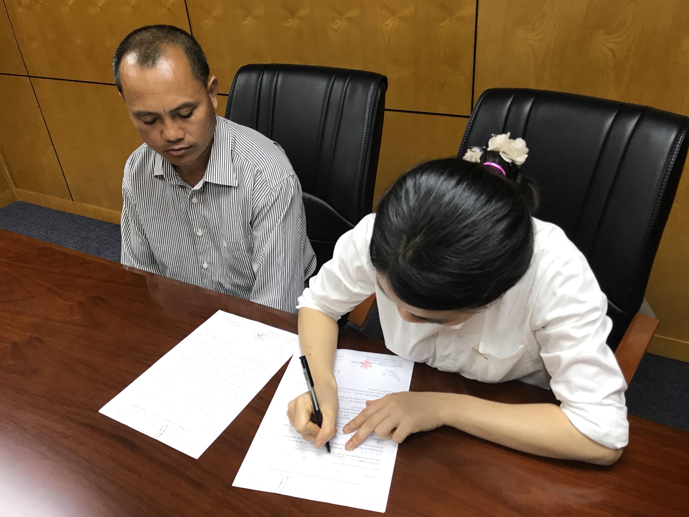 面接が終わってから家族を交えた雇用契約